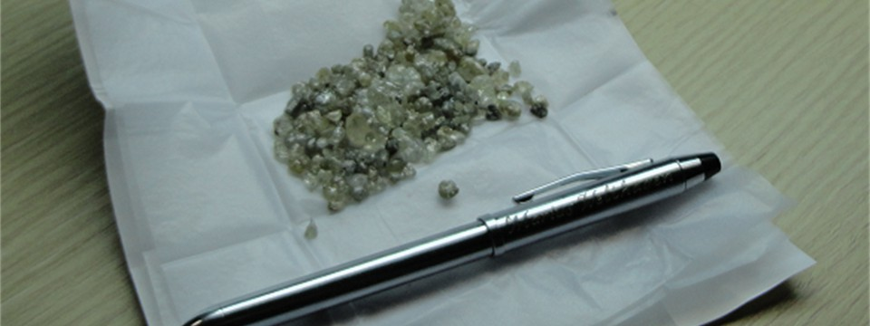 Quality Monastery rough diamonds from prospecting